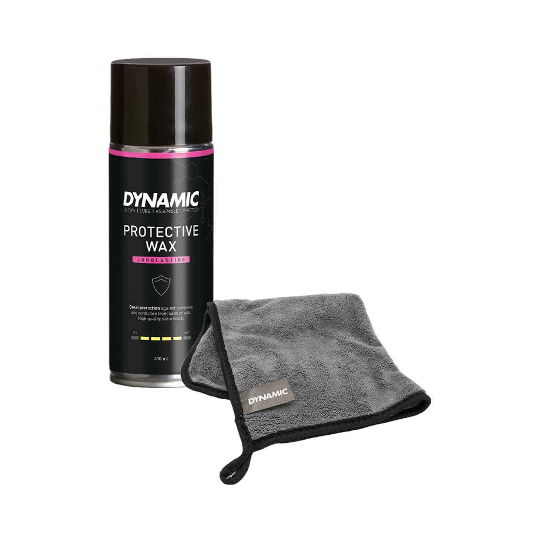 Protective Wax and polishing cloth for bikes from dynamic bike care