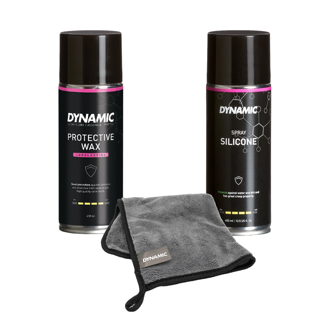 Protect Bundle Dynamic Bike Care - Silcon Spray and Protective Wax