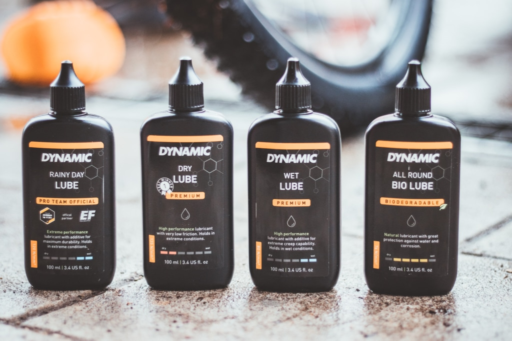 different lubes for different weather conditions - dynamic bike care